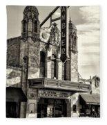 The Ambler Theater In Sepia Fleece Blanket