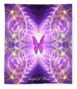 The Angel Of Wishes Fleece Blanket