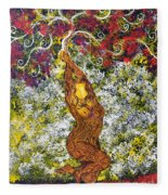 The Angel Tree Fleece Blanket