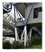 The Area Below The Capsules Of The Singapore Flyer Fleece Blanket