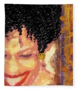 The Artist Who Found Her Smile Fleece Blanket
