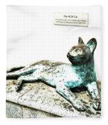 The Asian Civilisations Museum Cat Fleece Blanket