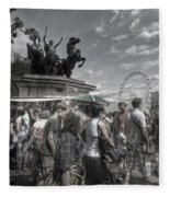 The Attack Of The Zombie Tourists Fleece Blanket
