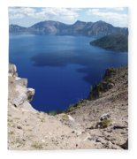 The Back Side Of Crater Lake  Fleece Blanket