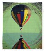 The Balloon And The Sea Fleece Blanket