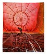 The Balloonist - Inside A Hot Air Balloon Fleece Blanket