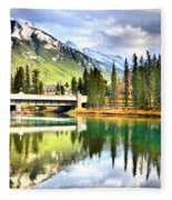 The Banff Bridge Fleece Blanket