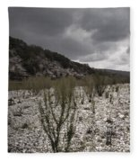 The Bank Of The Nueces River Fleece Blanket