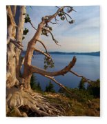 The Banks Of Crater Lake Fleece Blanket