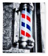 The Barber Pole Fleece Blanket