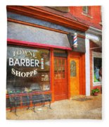 The Barber Shop Fleece Blanket