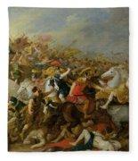 The Battle Between The Amazons And The Greeks Fleece Blanket