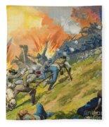 The Battle Of Gettysburg Fleece Blanket