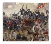 The Battle Of Spotsylvania Fleece Blanket