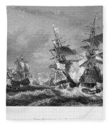 The Battle Of Texel, 1673 Fleece Blanket