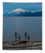 The Beach At Camp Rich. Fleece Blanket