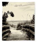 The Beach Path - Clearwater Beach Fleece Blanket