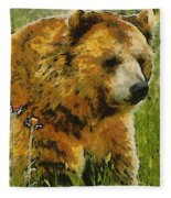 The Bear Painterly Fleece Blanket
