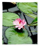 The Beauty Of Water Lily Fleece Blanket