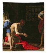 The Beheading Of John The Baptist Fleece Blanket