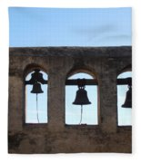 The Bells At The San Juan Capistrano Mission Fleece Blanket