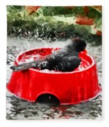 The Birdbath  Fleece Blanket