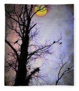The Black Crows Fleece Blanket