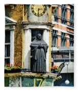 The Black Friar Pub In London Fleece Blanket