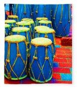 The Blue Drums Fleece Blanket