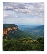 The Blue Mountains - Panoramic View Fleece Blanket