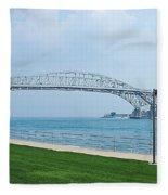 The Blue Water Bridge  Fleece Blanket