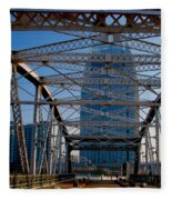The Bridge In Nashville Fleece Blanket