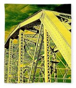 The Bridge To The Skies Fleece Blanket