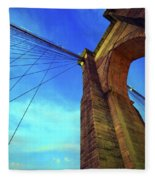 The Brooklyn Bridge Fleece Blanket