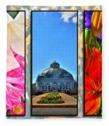 The Buffalo And Erie County Botanical Gardens Triptych Series Fleece Blanket