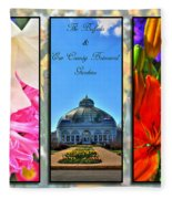 The Buffalo And Erie County Botanical Gardens Triptych Series With Text Fleece Blanket