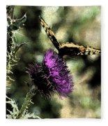 The Butterfly I Fleece Blanket