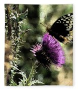 The Butterfly IIi Fleece Blanket