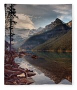 The Calm At Lake Louise Fleece Blanket