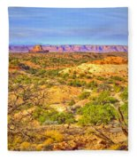 The Canyon In The Distance Fleece Blanket