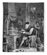 The Chemist, 17th Century Fleece Blanket