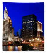The Chicago River Fleece Blanket