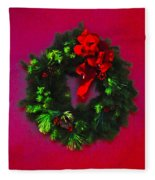 The Christmas Wreath Fleece Blanket