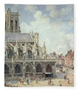 The Church Of Saint Jacques In Dieppe Fleece Blanket