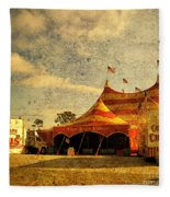 The Circus Is In Town Fleece Blanket