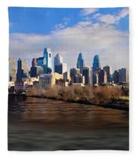 The City Of Brotherly Love Fleece Blanket
