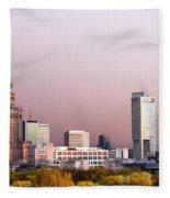 The City Of Warsaw Fleece Blanket