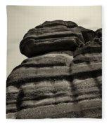 The Cliff Bw Fleece Blanket