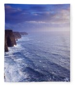 The Cliffs Of Moher, County Clare Fleece Blanket