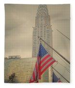 The Colors Flying In New York Fleece Blanket